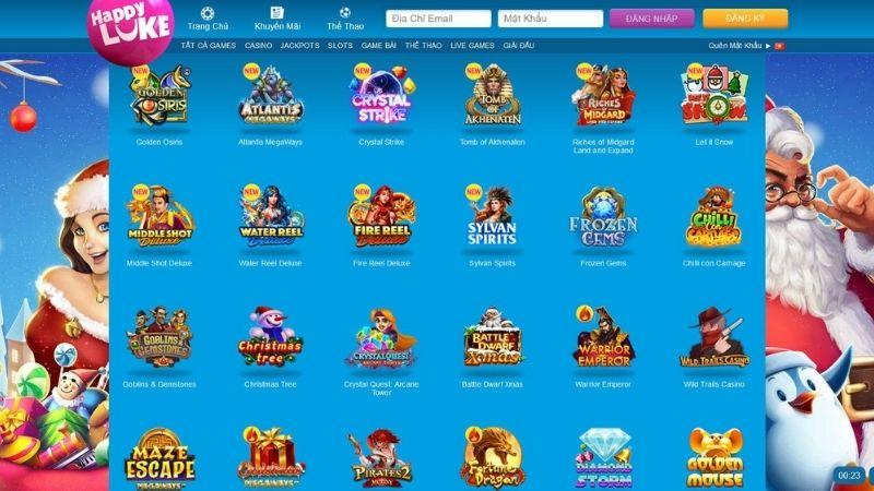 Sản phẩm cá cược tại HAPPYLUKE Slotgames
