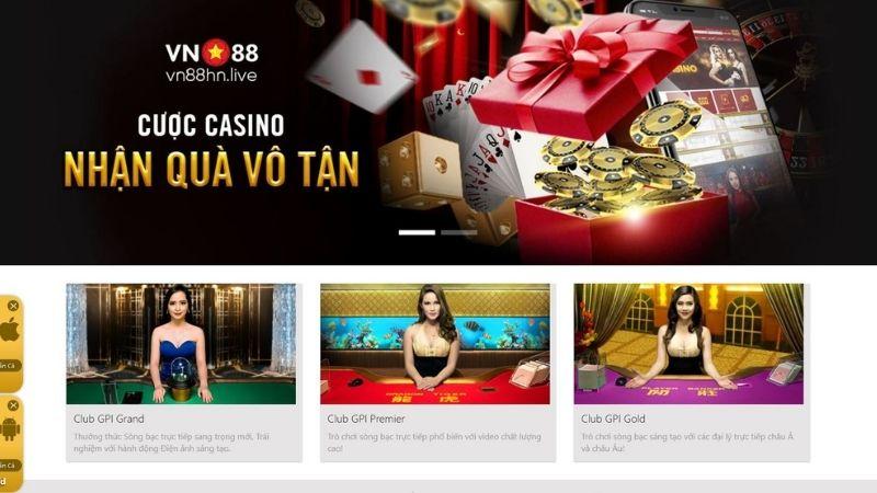 Sản phẩm cá cược tại VN88 - Sàn casino Online