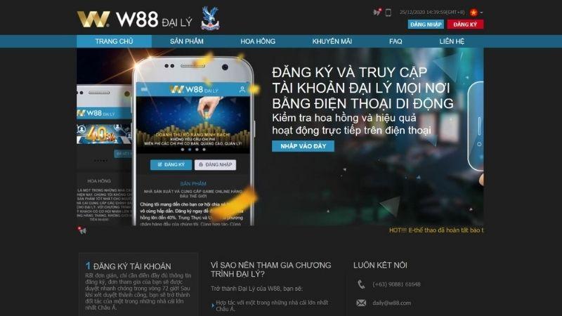 Đại lý của nhà cái W88