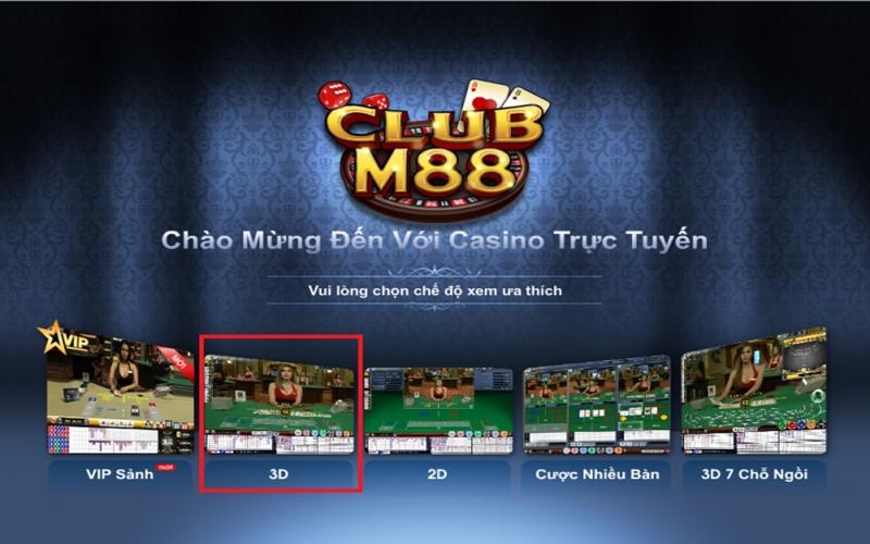Casino Online Club hấp dẫn cuốn hút trên M88