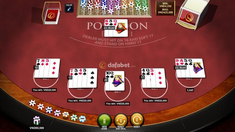 Pontoon - Tựa game đổi gió cho các tay chơi Blackjack