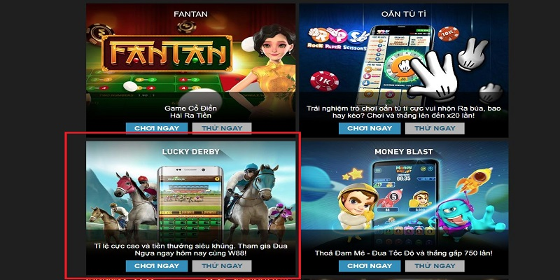 Hướng dẫn chơi game đua ngựa online tại W88