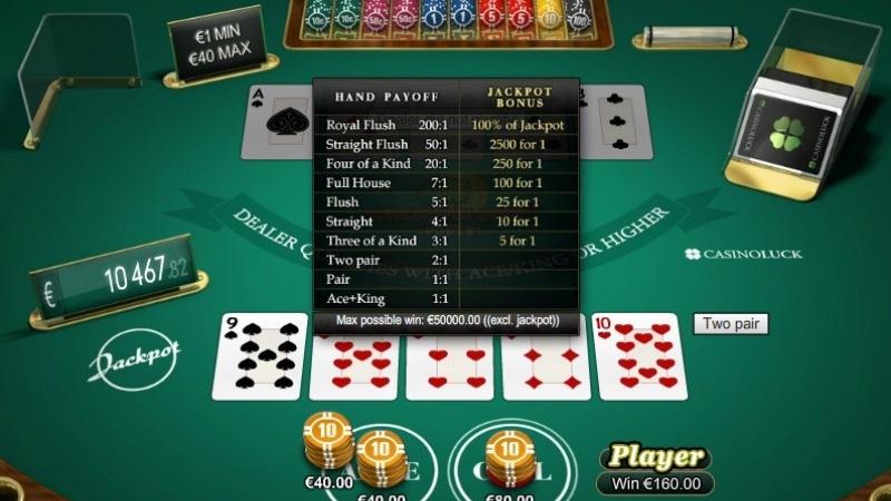 Luật chơi Caribbean Stud Poker cơ bản nhất