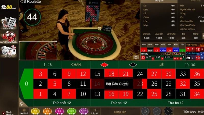 Hướng dẫn chơi Roulette trên FB88 chi tiết nhất
