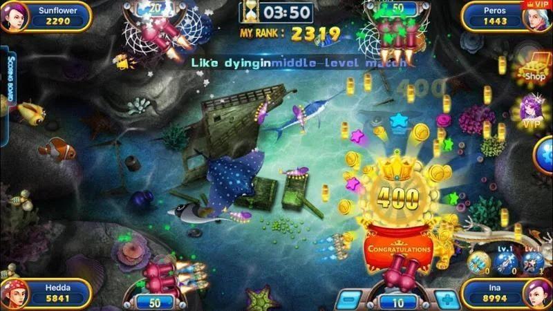 Tính năng game của Fishing War trên FUN88 rất đa dạng
