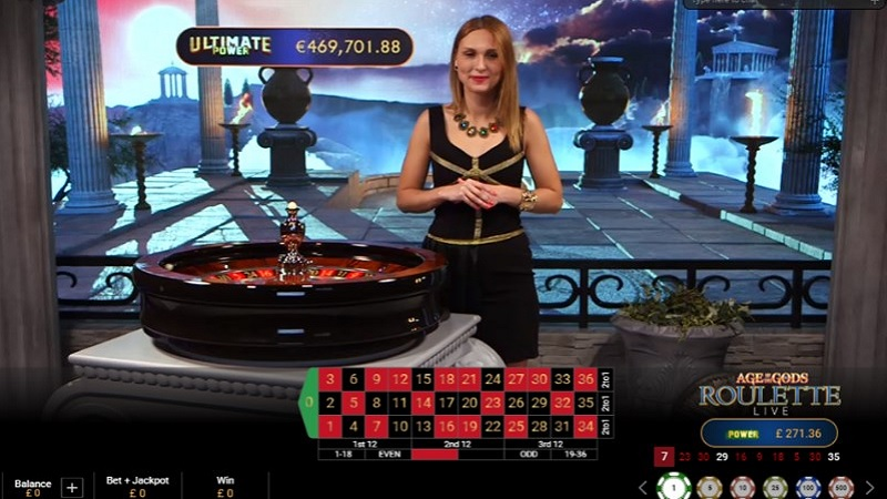 Tính năng game Age of the Gods Roulette