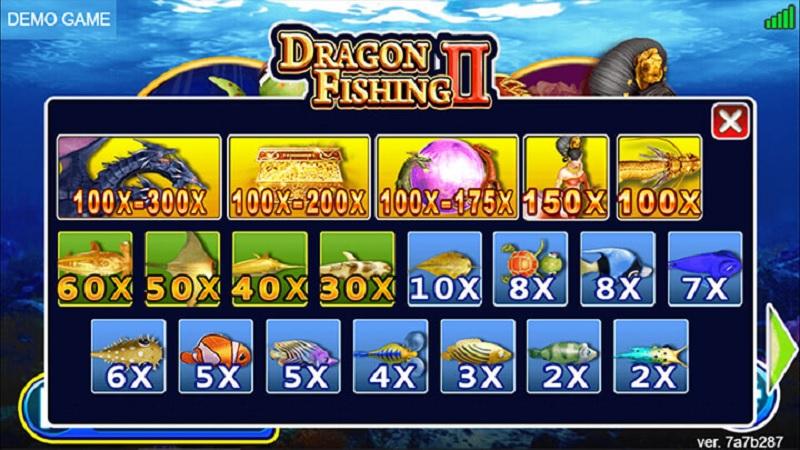 Lựa chọn cửa cược theo tài chính cá nhân khi chơi bắn cá rồng II