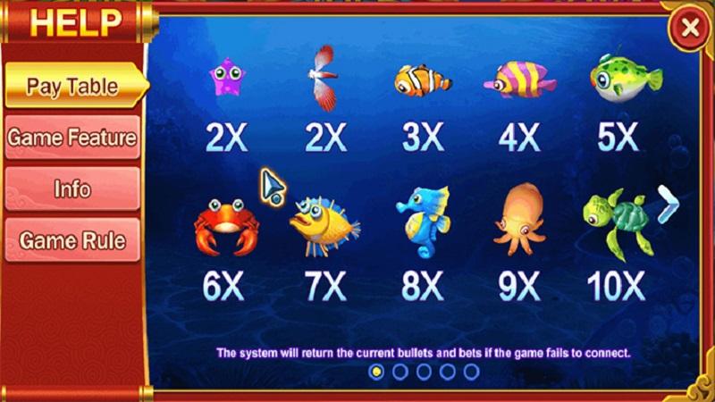 Các loại sinh vật biển trong game