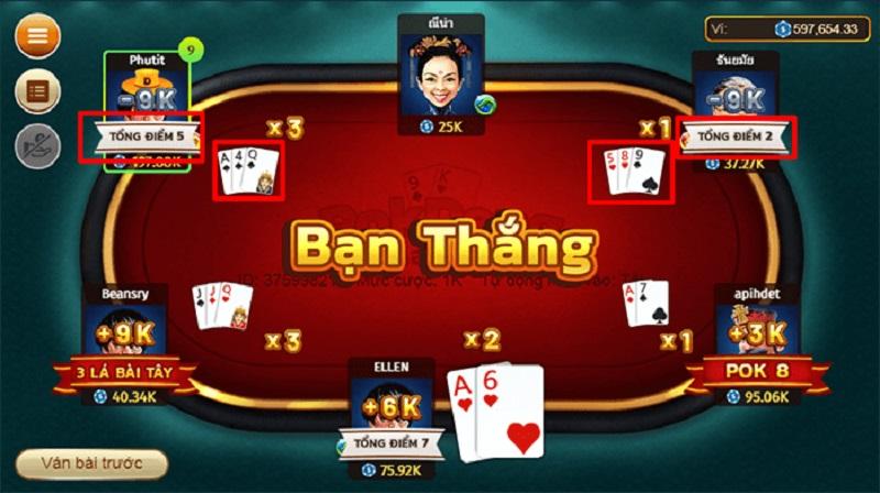 Một ván cược trong Pok Deng