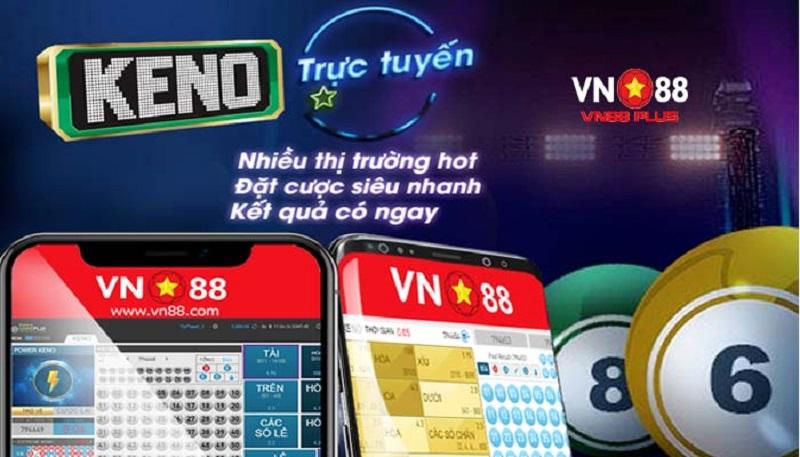 Chơi Vn Keno tại Vn88 dễ trúng