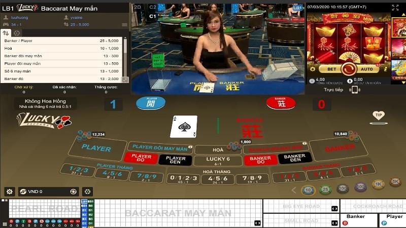 Luân phiên đặt các cửa cược khác nhau khi chơi Classic Baccarat